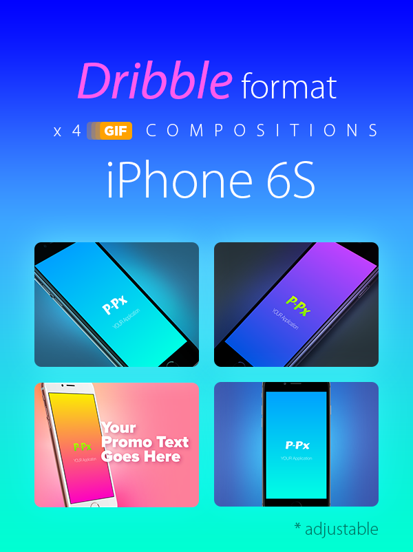 iPhone 6S Dribble format AE compositions (x4)